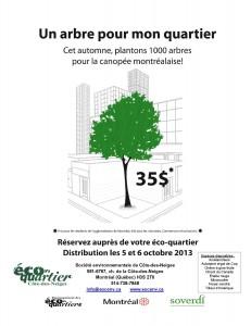 Affiche Un arbre pour mon quartier